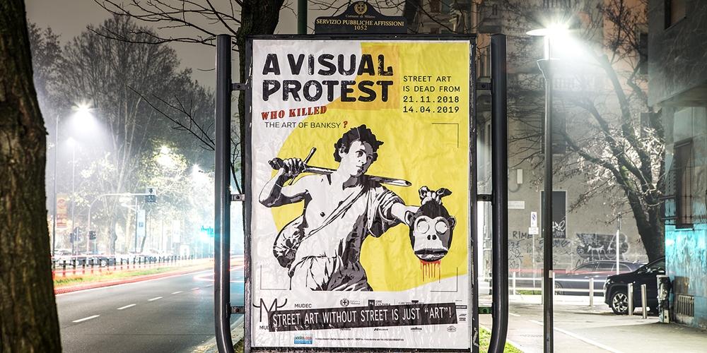 A Milano manifesto di protesta contro la mostra su Banksy A Visual Protest